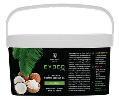 EXTRA VIRGIN ORGANIC COCONUT OIL 5 Litre for Cooking and Beauty (wholesale)