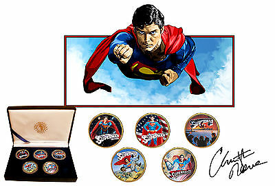 Christopher Reeve - Superman The Movies Gold Plated Kennedy Half Dollar Coins