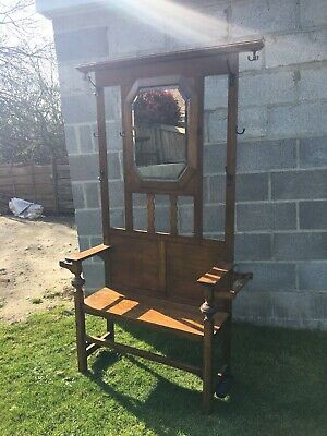 Antique Carved /monks Bench / Hall Chair Seat / Pew