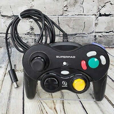 Nintendo GameCube Black InterAct SUPERPAD Replacement Wired Game Controller