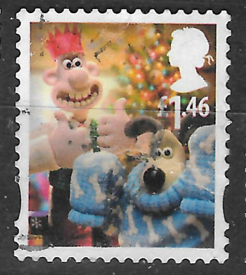 GB stamp shows wallace and gromit  - £1.46 see scan