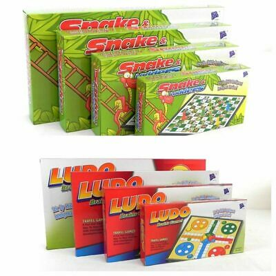 Magnetic Solid Plastic Board Game Ludo, Snake And Ladders Fold Able Sets New_Uk