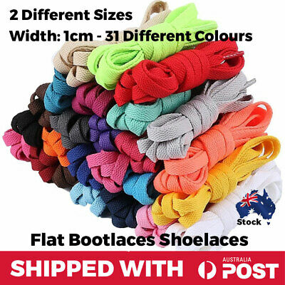 Shoelaces Colourful Coloured Flat Round Bootlace Sneaker Boot shoe laces Unisex