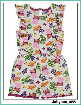 New Peppa Pig Girls Playsuit Cactus Jumpsuit Outfit Peppa Character Clothing