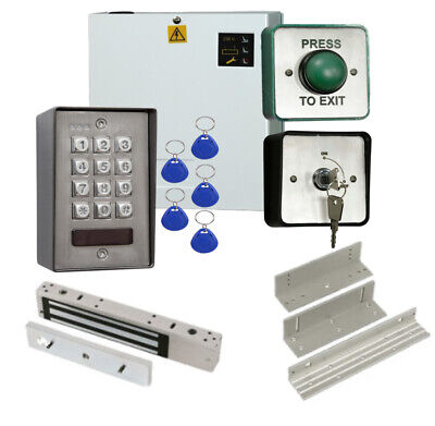 Stainless Steel Proximity Code Access Control Door Entry Keypad kit Maglock, PSU