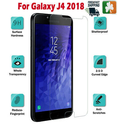 Premium Quality Tempered Glass Screen Protector Film For Samsung Galaxy J4 2018