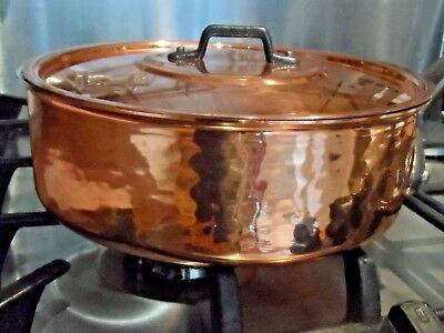 NEW & UNUSED COPPER 00's SAUTE PAN c/w LID TIN LINING (Ref. 504 ) FRENCH PROV'.