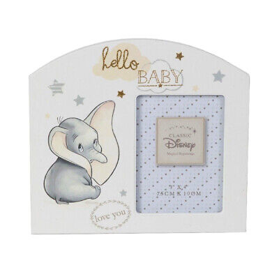 Disney Dumbo Hello Baby Photo Frame Gift Elephant Boy Girl Shower Newborn First