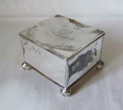 Antique Silver Plated Box with Arms of University of Sheffield on Lid C.1905