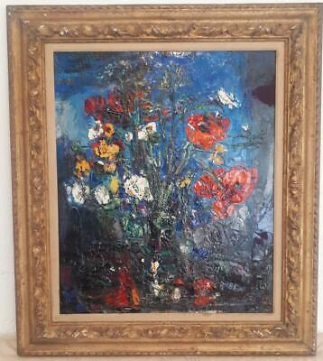 Hernando Vines (1902-1993) French Signed Original Oil Painting Still Life Floral