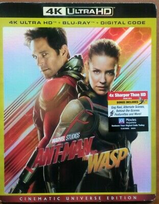 Ant-Man And The Wasp    4K   Ultra Hd  +  Blu-Ray   +   Digital)