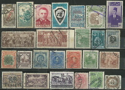 Worldwide 25 Different Old Stamps Mnh Or Used Look (09)