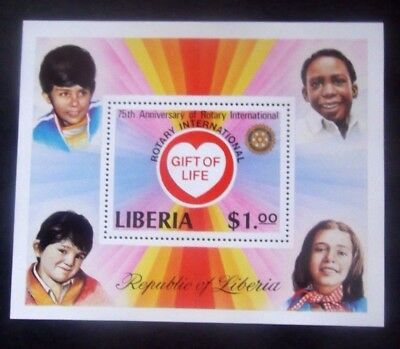 Liberia-1979-25th Anniv of Rotary International Minisheet-MNH