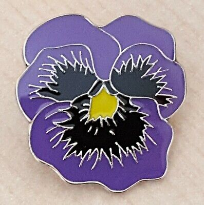 Animals in War Purple Poppy Remembrance Day Flower Metal Lapel Pin Badge
