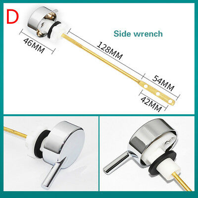 Toilet Cistern Flush Handle Lever Chrome Plated with Syphon Lift Arm Fitting New