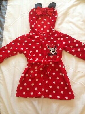 Minnie Mouse Dressing Gown Age 18/24 Months