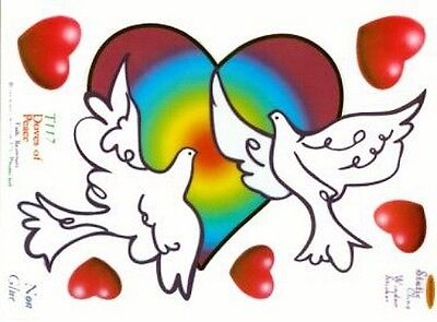 """Doves of Peace"" Static Cling Window Sticker"
