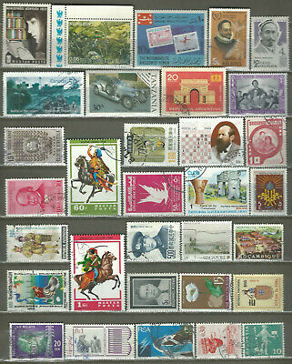 Worldwide 32 Different Used Stamps Lot Collection (195)