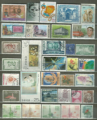 Worldwide 33 Different Used Stamps Lot Collection (205)