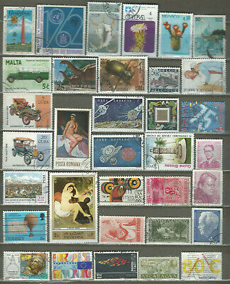 Worldwide 34 Different Used+Mnh Stamps Lot Collection (219)