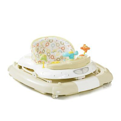 Baby Luxury Walker And Rocker - Adjustable Height Mychild Musical Colours New