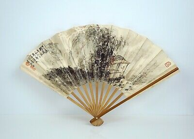 A Water colour Painting on Fan, Attributed to Fu Baoshi
