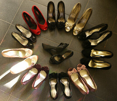 Job Lot 11 Pairs Glamourous High Heels Shoes Ladies Sizes 4-9