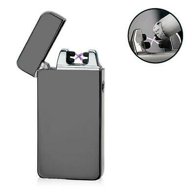 USB Electric Dual Arc Metal Flameless Torch Rechargeable Windproof Lighter FZ