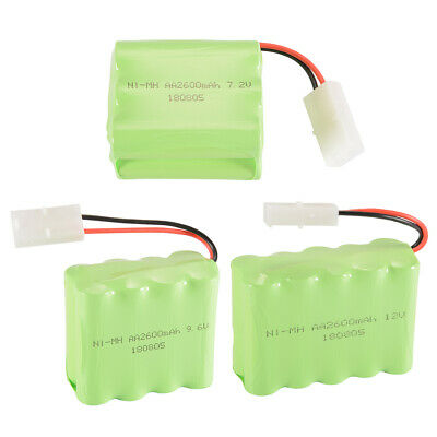 RC 7.2V/9.6V/12V 2600mAh AA Ni-MH Receiver Battery Rechargeable with KET-2P Plug