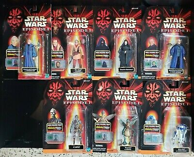 Star Wars Episode I - Set of 7 Action Figures Collection 2 & 3 NIB SEE PICS! @
