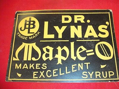 Antique Dr. Lynas' Maple =O extracts Sign.