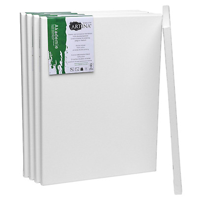 Artina Academy Blank Canvases 5 Set 30x40 cm 100% Cotton A3 Artist Canvas for