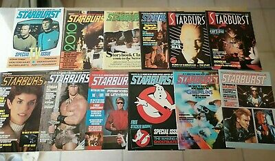 Marvel Starburst Magazines Lot Issues 73 - 84 1984 Sci Fi Magazines Ghostbusters