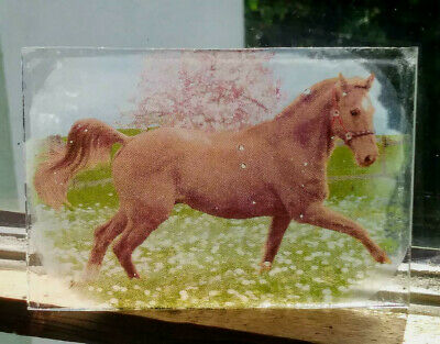 Stained Glass Horse -  Kiln fired fragment vintage pane!