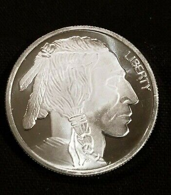 "Indian Head One Troy Ounce .999 Fine Silver Round  "" We Combine Shipping """