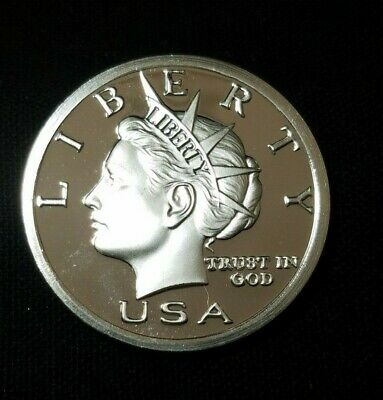 Rare Low Mintage 2004 Liberty Head $20 Norfed 1 oz .999 Fine Silver Round Proof