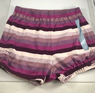 NWT Baby Gap Purple Striped Knit Bubble Shorts 4 Years NEW