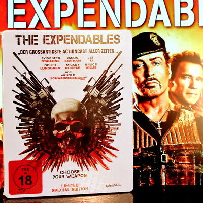 """The Expendables """"Limited Steelbook Edition"""" Blu-ray *Uncut* S.Stallone Neu&OVP"""