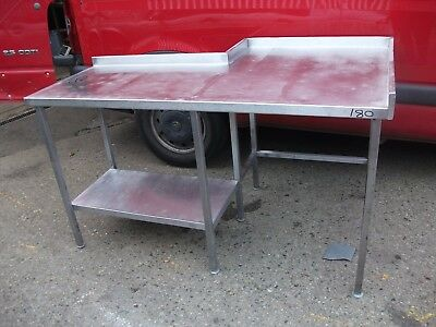 No180 Stainless Steel L Shaped Table 1630Mm X 960Mm X 900Mm High