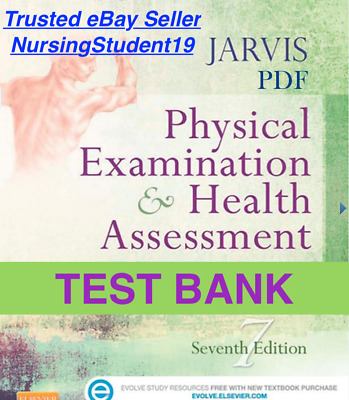 TEST BANK - Jarvis Physical Examination & Health Assessment 7th Edition (PDF)