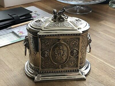Henry Wilkinson & Co Victorian Tea Caddy Silver Plated