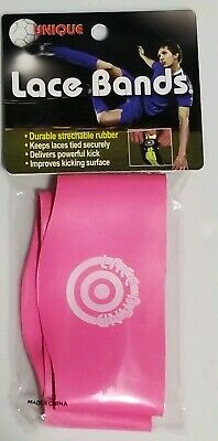 311b0c85e34 Unique Sports Soccer Shoe Lace Cover Bands Pair 2 Pack Neon Pink - New In  Pkg