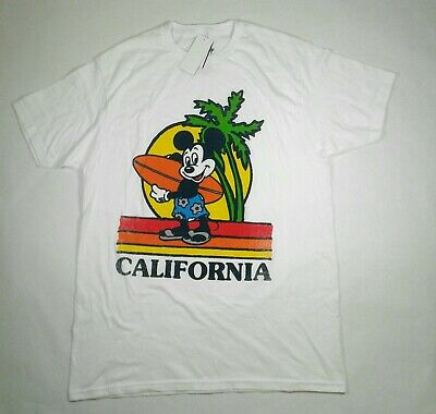 78618b5bb Disney Mickey Mouse Men's Short Sleeve Graphic Surf T-Shirt Size Large  (4656)