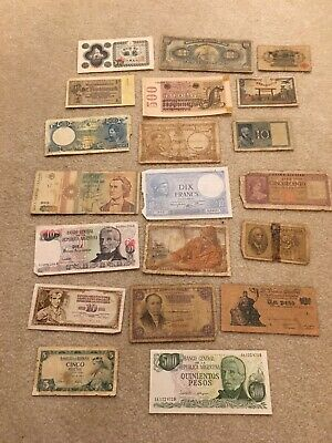 Lot of 20 Different Foreign Currency Banknotes