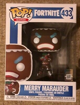 Funko Pop Vinyl Games Fortnite MERRY MARAUDER Gingerbread Man Figure #433