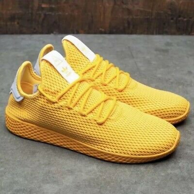 21686eaafc6de adidas Pharrell Williams Tennis HU Mens Trainers Lace Up Size11 Yellow