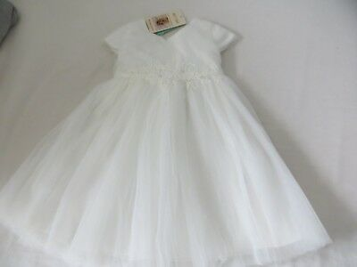BNWT Girls Monsoon Ivory Macia Flowert Occasion Christening Dress 18-24 mnths