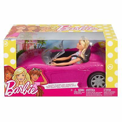 Barbie Doll With Her Pink Convertible Car Mattel FPR57 Great Gift NEW  FREE POST