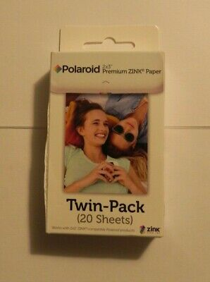 Polaroid 2x3 Premiun ZINK Paper Twin-Pack 20 Sheets Sealed  Fast Shipping !!