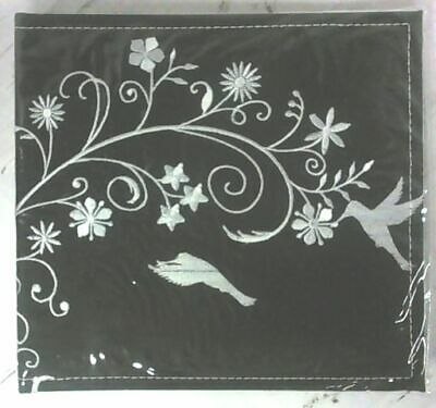 "NEW Black / White Birds on Flower 50 Pages 200 Pockets for 4"" x 6"" Photo Album"